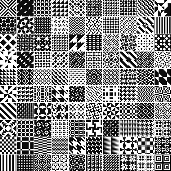 Free Monochrome Patterns For Adobe Illustrator Download