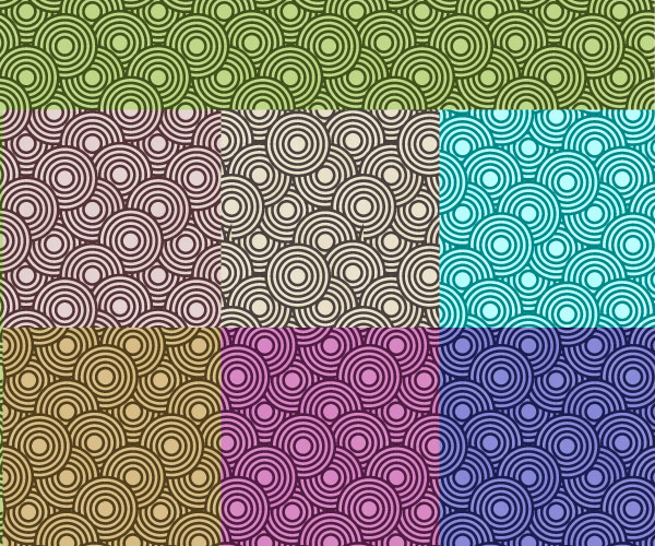 Crazy Circles Free Seamless Premium Vector Pattern