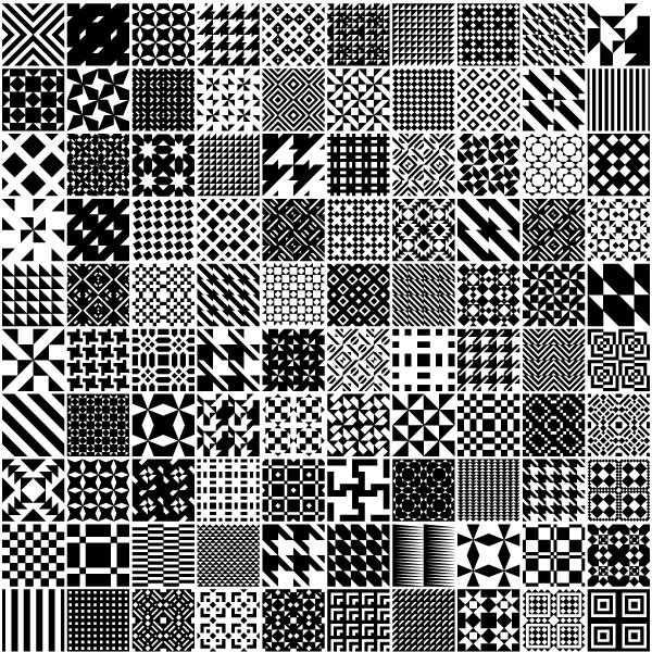 Vector Monochrome Geometric Patterns