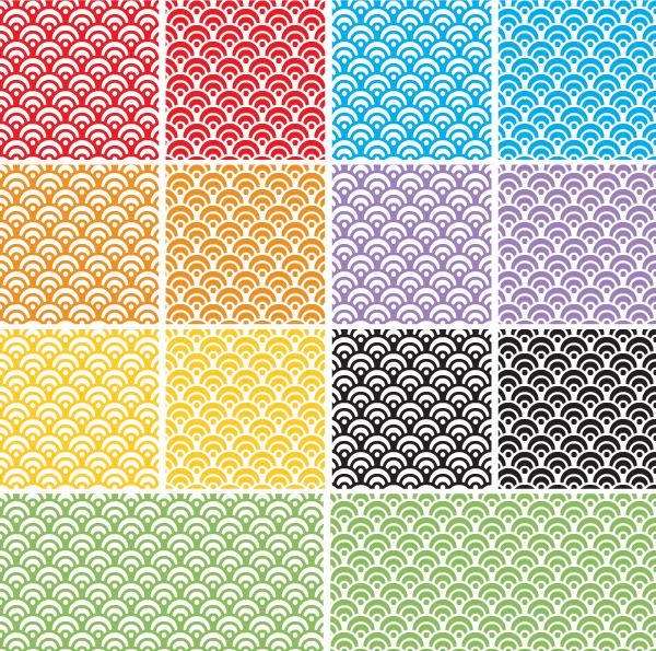 dragon scales seamless pattern adobe illustrator swatches