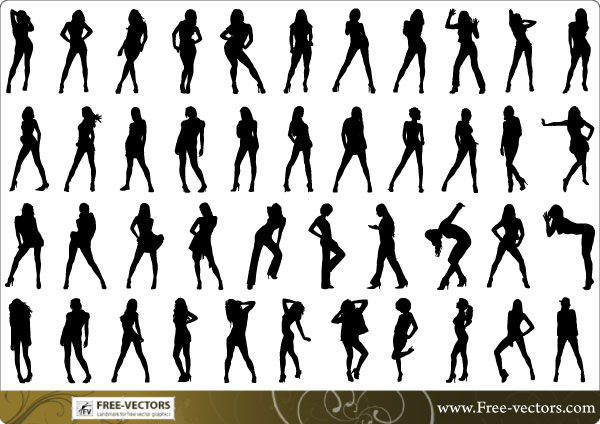 vector silhouette of people - photo #39
