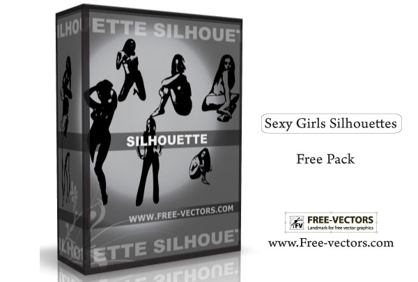 071-Sexy Girls Silhouettes Free Vector Pack