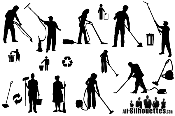 Cleaner Silhouettes Vector Free Clip Art Download