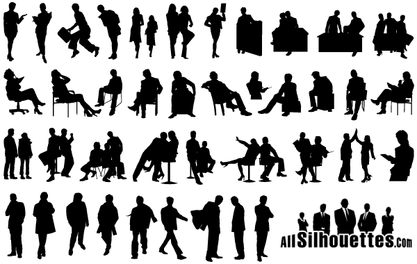 Business People Silhouettes Free Images Download Free