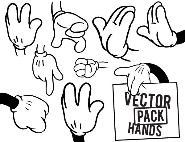 Free Hands Vector Illustrator Pack