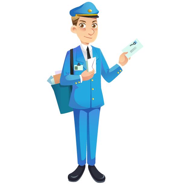 Mailman Free Vector Image | Download Free Vector Art ...