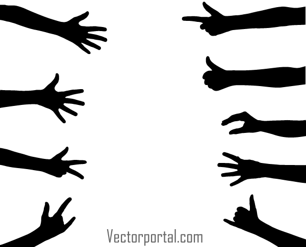 hand gesture vector silhouettes download free vector art freehand vector graphics editor free vector hand logo