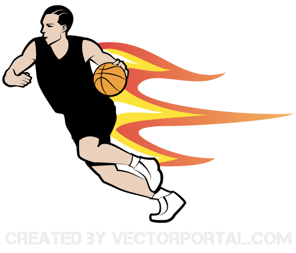 Vector Basketball Player Image | Download Free Vector Art ...