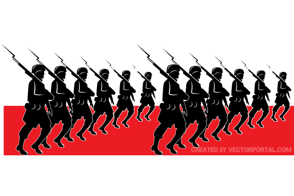 Military Parade Vector Image