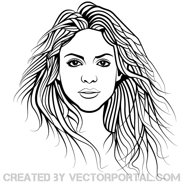 Shakira Vector Image Download Free Vector Art Free Vectors
