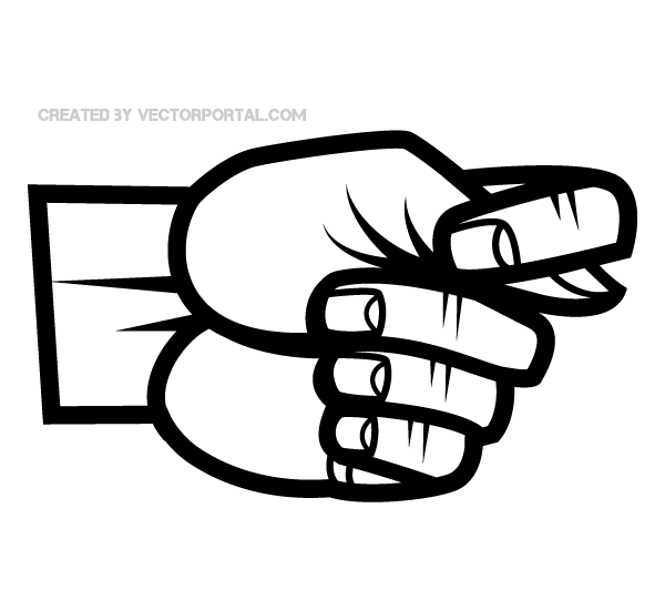 Hand Fig Sign Gesture Vector