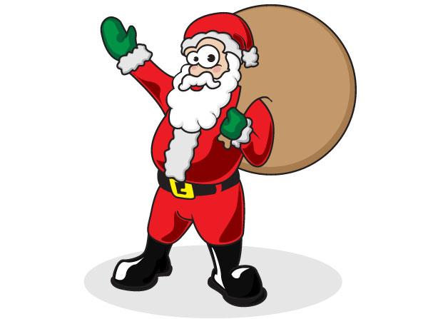 Santa claus vector download free art vectors