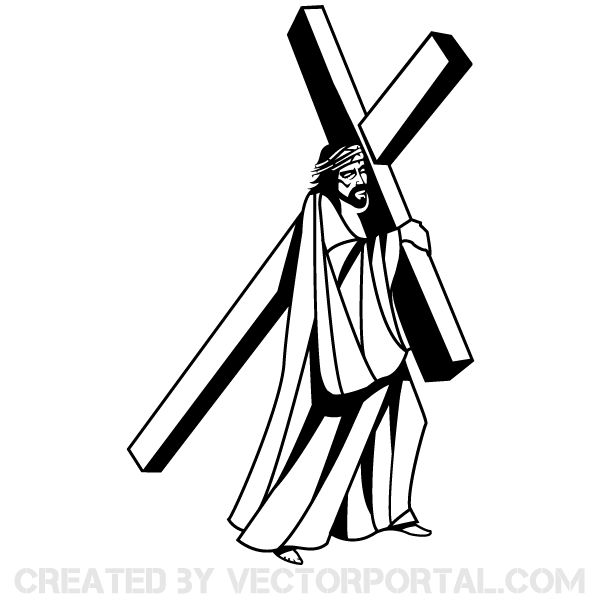 free clip art jesus carrying cross - photo #2