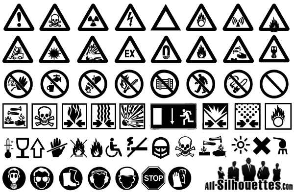 free warning signs vector art