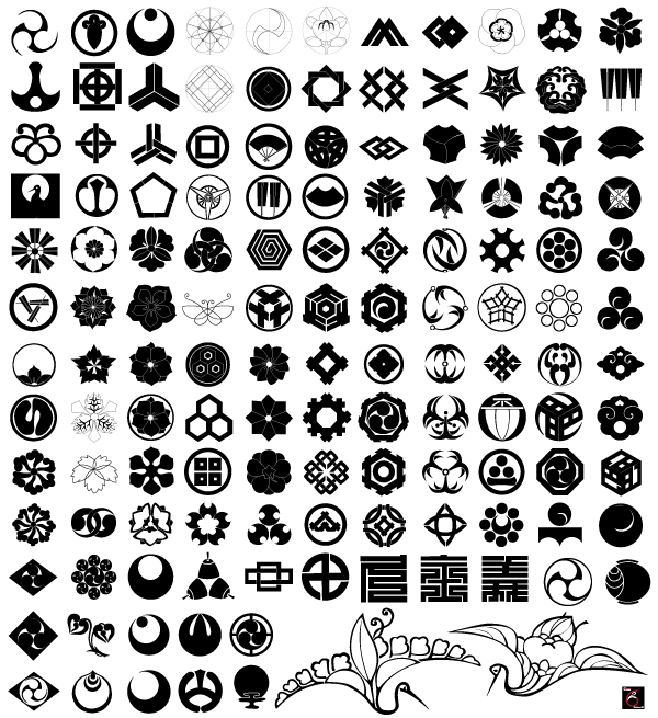japanese traditional elements free vector set download