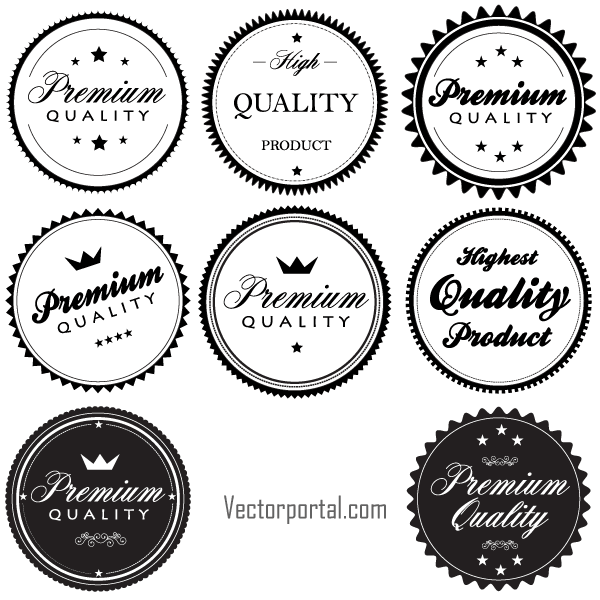 Vector Vintage Premium Quality Labels and Stickers
