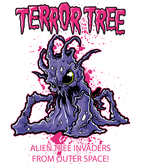 Free t shirt design terror tree download free vector for T shirt design vector free download