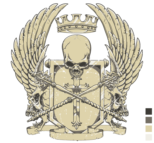 Crest T-Shirt Design Vector