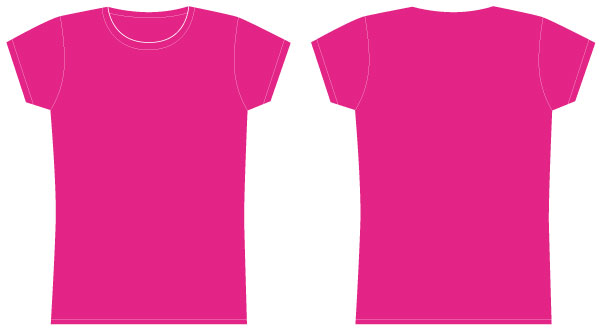 Girls tshirt template vector download free vector art for Pink t shirt template