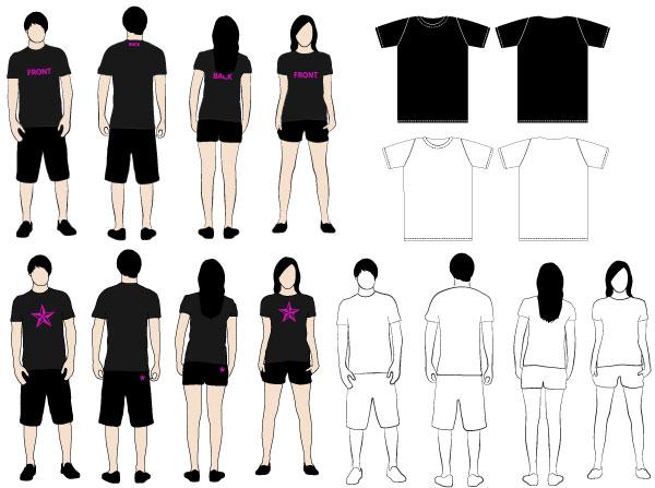 T-shirt Vector Free Download 012-t-shirt Models Vector