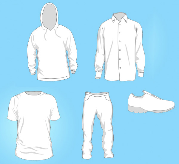 free clothing templates vector download free vector art