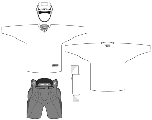 Hockey uniform template free vector download free vector for Softball uniform design templates