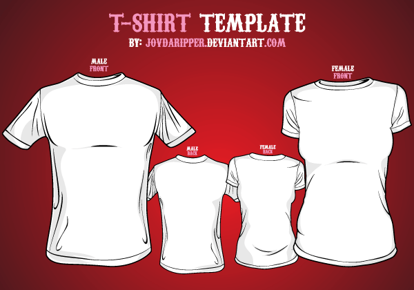 T shirt template front and back vector illustrator for T shirt template ai