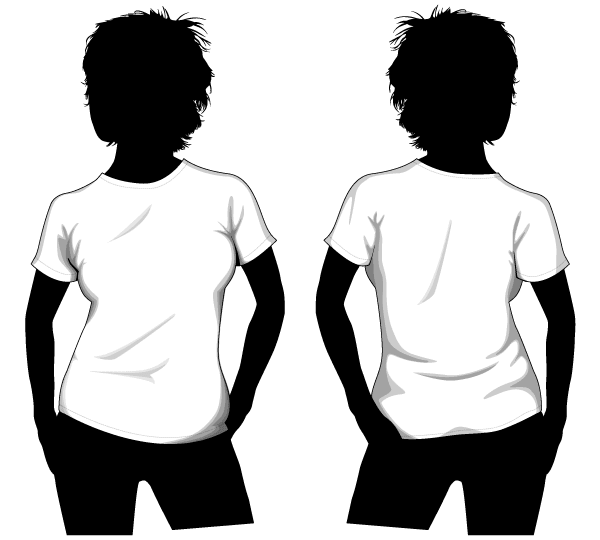 Shirt Vector Template Vector Girls T-shirt Template