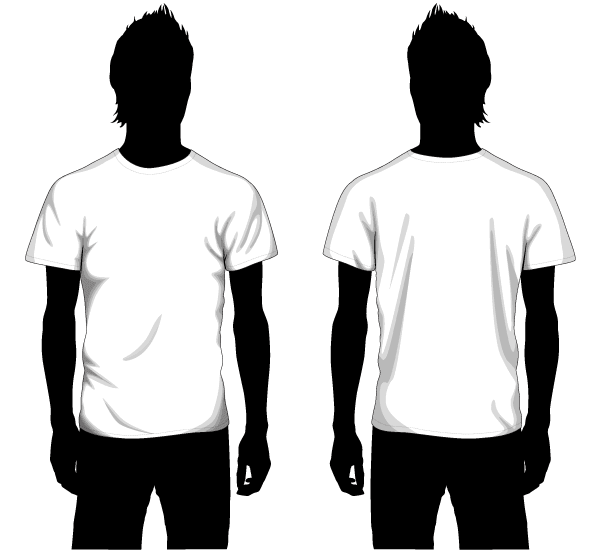 Shirt Vector Template Vector Boys T-shirt Template