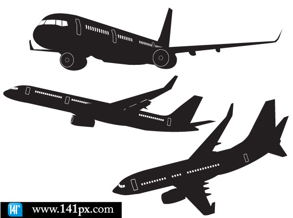 free airplane clipart vector - photo #30
