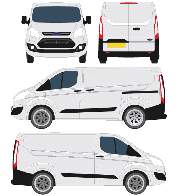 14 Ford Transit Custom L1 270 Swb: Vector Ford Transit Courier Outline