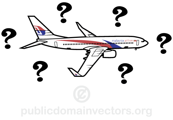 Illustration of Malaysian Airplane Mystery