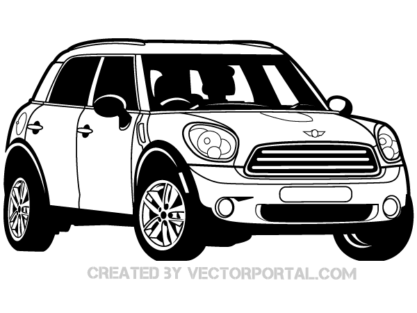 Mini Cooper Car Vector : Download Free Vector Art : Free-Vectors