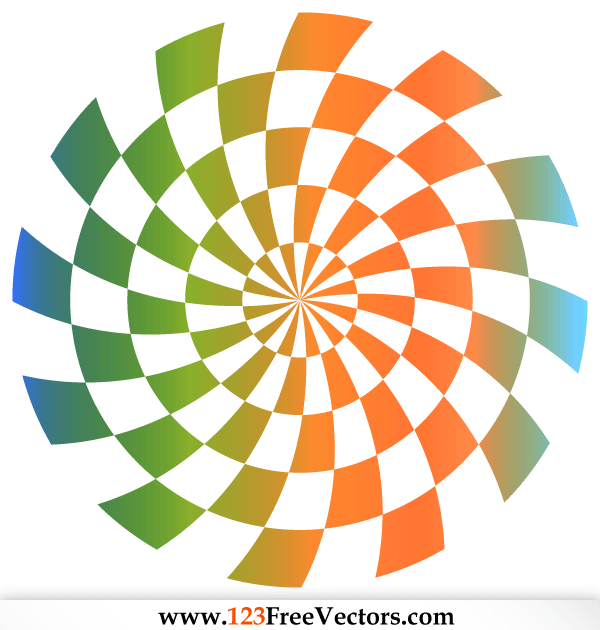 Optical Illusion Backdrop Vector
