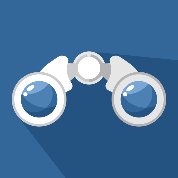 binoculars icon vector - photo #23