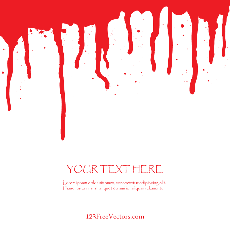 Free Blood Dripping Vector Art