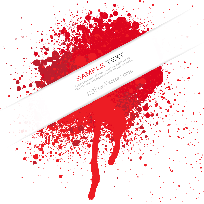 Blood Splatter Vector Free Download