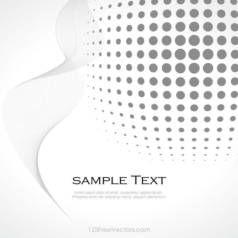 Abstract Gray Halftone Background Vector