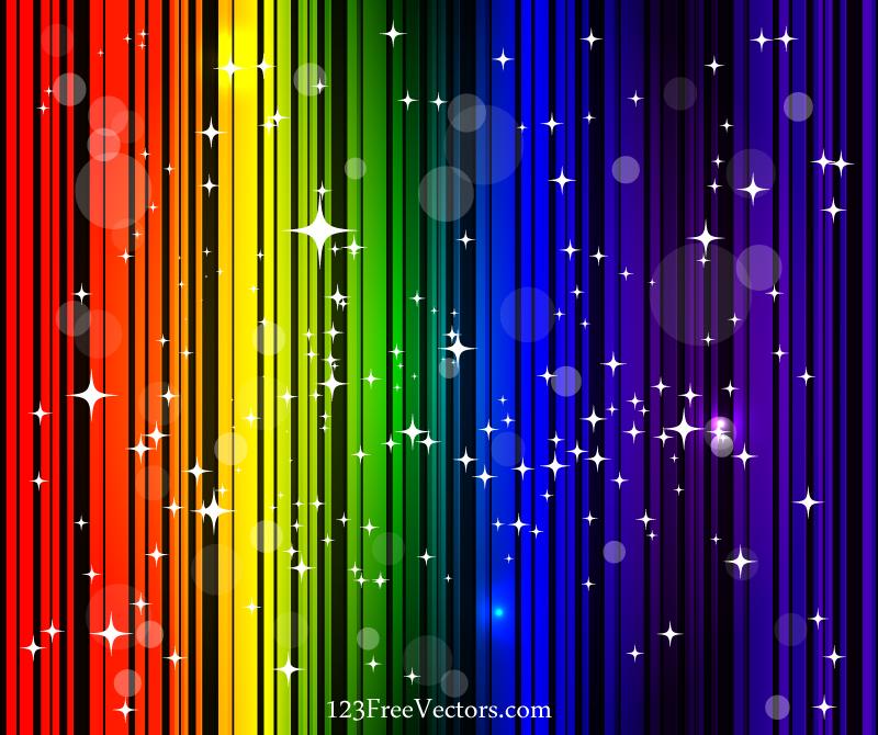 Rainbow Background Vector Free | Download Free Vector Art ...