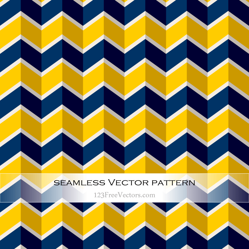 Navy Blue And Yellow Seamless Zigzag Pattern Download