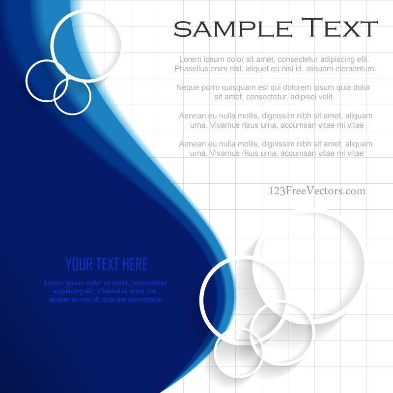 Blue Background Template Illustrator Free Download Free