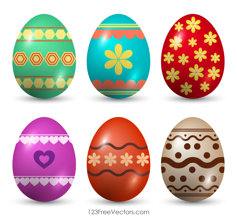 Painted Easter Eggs Clip Art