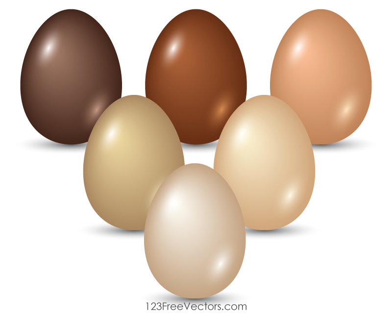 Colored Easter Eggs Clip Art