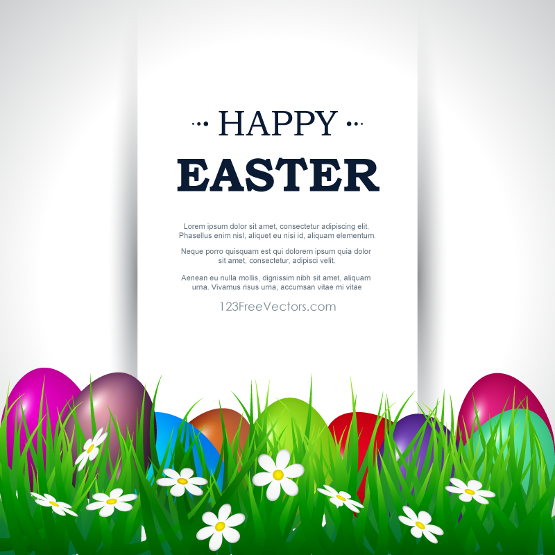 Happy Easter Card Template Free Download Free Vector Art – Easter Postcard Template