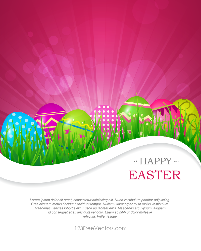 Abstract Colorful Easter Background Vector
