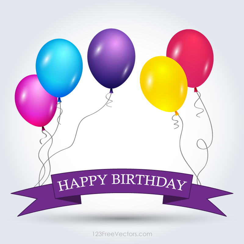 Happy birthday banner template free download vector