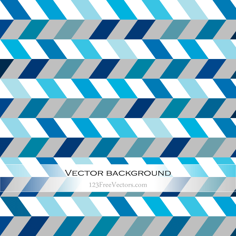 Abstract Blue Zig Zag Background