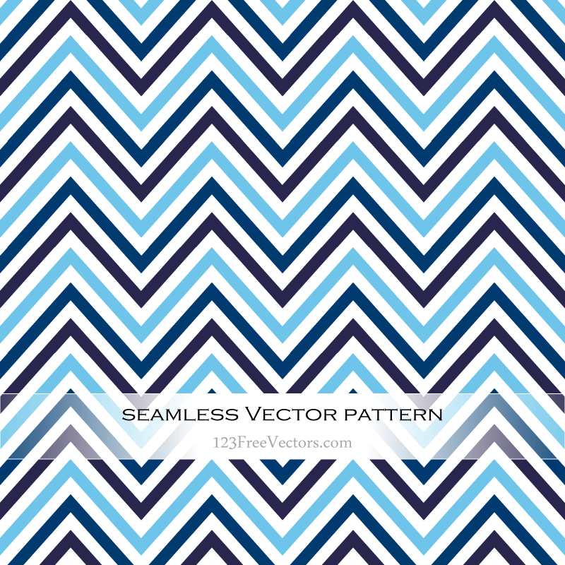 Free Vector Blue Zigzag Seamless Pattern