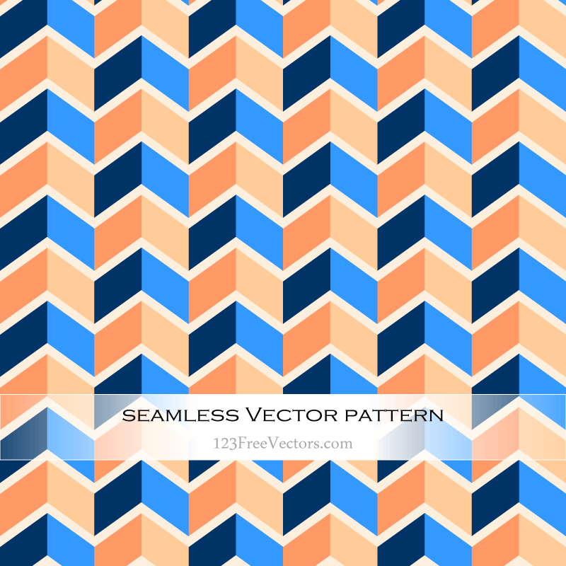 Vector Colorful Seamless Zig Zag Pattern Abstract Background