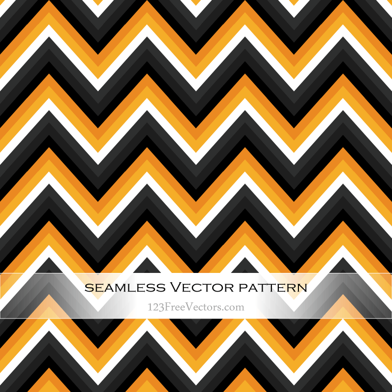 Orange And Black Zig Zag Seamless Pattern Download Free